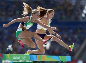 RIO DE JANEIRO, BRAZIL - AUGUST 13: Kerry O'Flaherty of Ireland competes during the Women's 3000m Steeplechase Round 1 on Day 8 of the Rio 2016 Olympic Games at the Olympic Stadium on August 13, 2016 in Rio de Janeiro, Brazil. (Photo by Paul Gilham/Getty Images)