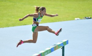 Rio , Brazil - 13 August 2016; Kerry O'Flaherty of Ireland in action during round 1 of the Women's 3000m steeplechase in the Olympic Stadium, Maracanã, during the 2016 Rio Summer Olympic Games in Rio de Janeiro, Brazil. (Photo By Brendan Moran/Sportsfile via Getty Images)